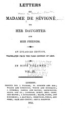 Letters of Madame de Sévigné to Her Daughter and Her Friends