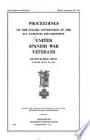 Proceedings     National Encampment of the United Spanish War Veterans Book