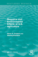 Pdf Resource and Environmental Effects of U.S. Agriculture Telecharger