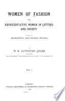 Women of Fashion and Representative Women in Letters and Society Book PDF