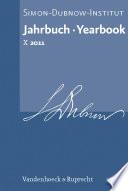 Jahrbuch des Simon-Dubnow-Instituts / Simon Dubnow Institute Yearbook X (2011)