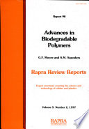 Advances in Biodegradable Polymers Book