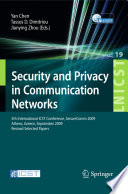 Security and Privacy in Communication Networks Book PDF