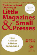 The International Directory Of Little Magazines And Small Presses 2006 2007