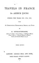 Travels in France by Arthur Young During the Years 1787, 1788, 1789