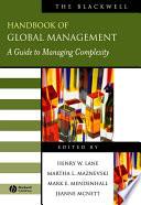 The Blackwell Handbook of Global Management