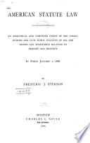 American Statute Law Book