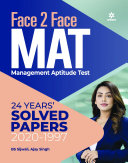 Face To Face MAT With 24 Years Solved Papers 2021