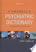 """""""Campbell's Psychiatric Dictionary"""" by Robert Jean Campbell"""