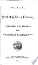 Journal Of The Senate Of The State Of California At The Session Of The Legislature