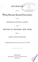 Journal of the     Annual Convention  Diocese of Western New York