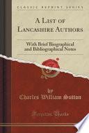 A List of Lancashire Authors