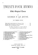 Twenty four Hymns  with Original Tunes