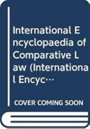 International Encylopedia of Comparative Law, Instalment 7