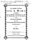 Die kirchliche Tradition vom h. Rocke