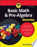 Basic Math and Pre Algebra For Dummies Book