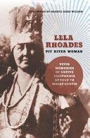 Lela Rhoades  Pit River Woman