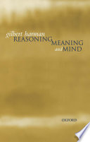 Reasoning  Meaning  and Mind