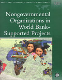 Nongovernmental Organizations in World Bank-supported Projects