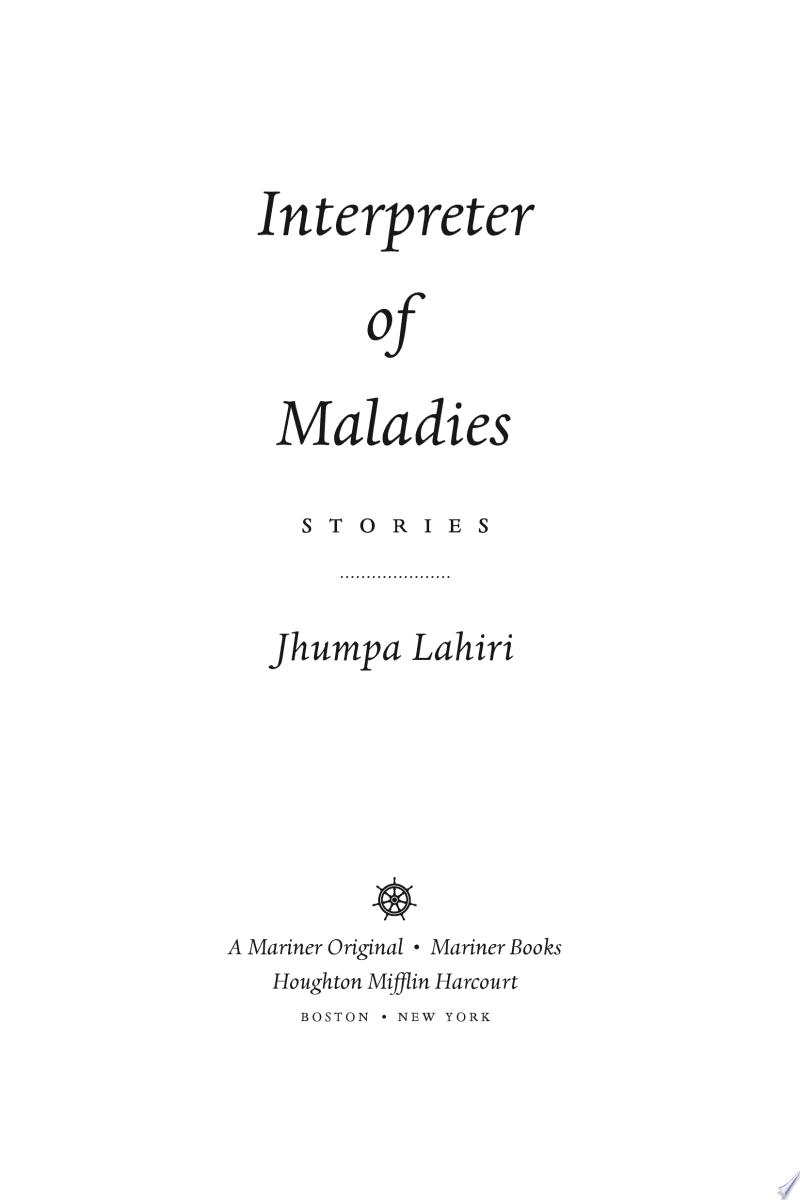 Interpreter of Maladies image