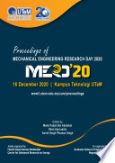 Proceedings of Mechanical Engineering Research Day 2020