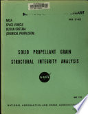 Solid Propellant Grain Structural Integrity Analysis