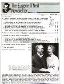 The Eugene O Neill Newsletter