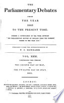 The Parliamentary Debates from the Year 1803 to the Present Time Pdf/ePub eBook