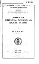Markets for Agricultural Implements and Machinery in Brazil