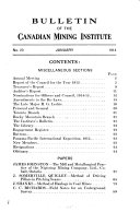 Bulletin of the Canadian Mining Institute