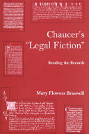 Chaucer s  legal Fiction