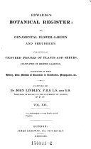 Edwards s Botanical Register  or Ornamental Flower Garden and Shrubbery  Consisting of Coloured Figures of Plants and Shrubs  Cultivated in British Gardens