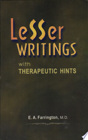 Free Download Lesser Writings with Therapeutic Hints PDF - Writers Club