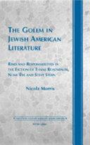 The Golem in Jewish American Literature