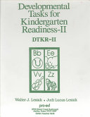 Developmental Tasks for Kindergarten Readiness