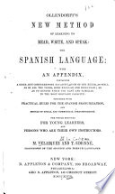 Ollendorff s New Method of Learning to Read  Write  and Speak   the Spanish Language Book