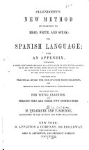 Ollendorff s New Method of Learning to Read  Write  and Speak   the Spanish Language