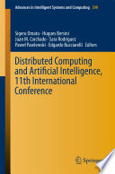 Distributed Computing and Artificial Intelligence  11th International Conference Book