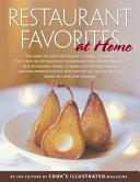 Restaurant Favorites at Home