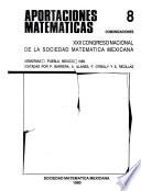 Vigésimo segundo Congreso Nacional de la Sociedad Matemática Mexicana