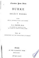 Select Works: Reflections on the revolution in France. 1881; copies 2-4, 1888