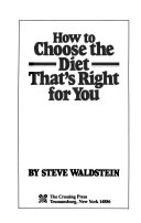 How to Choose the Diet That s Right for You Book