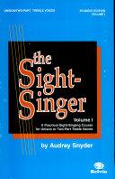 The Sight-Singer, Volume I for Unison/Two-Part Treble Voices Pdf/ePub eBook