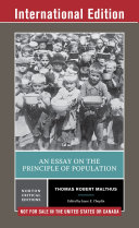 An Essay on the Principle of Population (First International Student Edition) (Norton Critical Editions)