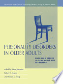 Personality Disorders In Older Adults