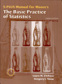 The Basic Practice of Statistics S Plus Manual