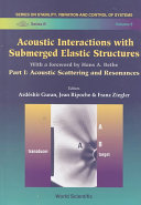 Acoustic Interactions with Submerged Elastic Structures: Acoustic scattering and resonances