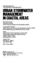 Proceedings of the National Symposium on Urban Stormwater Management in Coastal Areas  Virginia Tech  Blacksburg  Virginia  June 19 20  1980