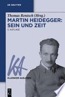 Martin Heidegger  : Sein und Zeit