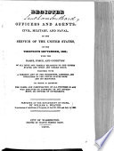 Register of All Officers and Agents, Civil, Military, and Naval, in the Service of the United States, on the ...